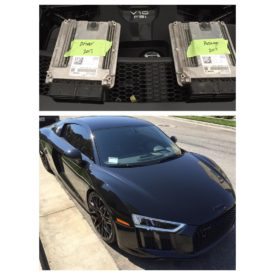 2017 Audi R8 Base model 540hp taken to 650hp with just a ECU flash. The 540hp stock file is more of a fuel economy file than a performance file. We code these cars up to the Lamborghini Huracan (even the R8 Plus stock file is weak compared to a stock Huracan file) and then add more power on top. #Audi #R8 #V10 #Lamborghini #AudiTuning #ECUTuning #ECUTuningGroup